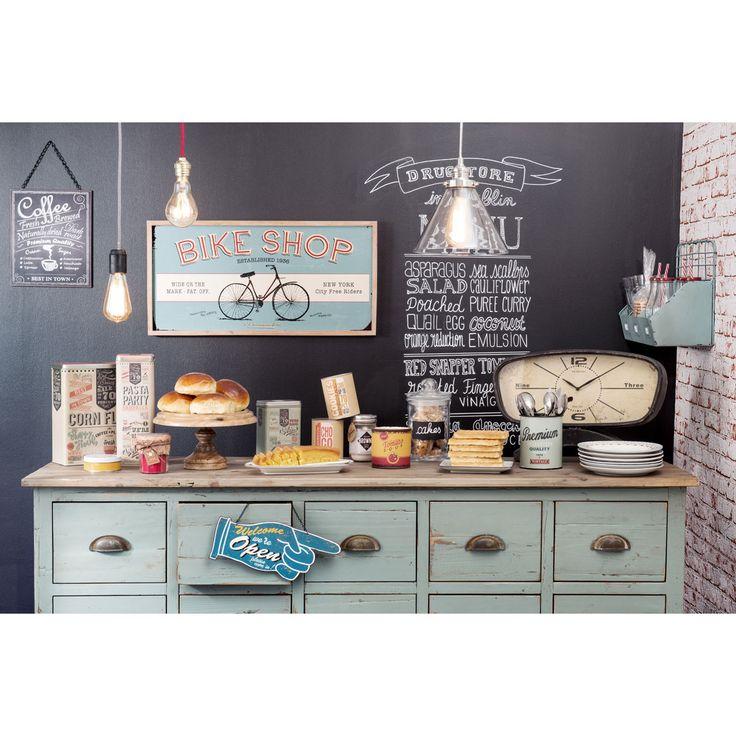 simple comptoir multi tiroirs meuble de mtier en bois recycl gris l cm chatelet maisons with