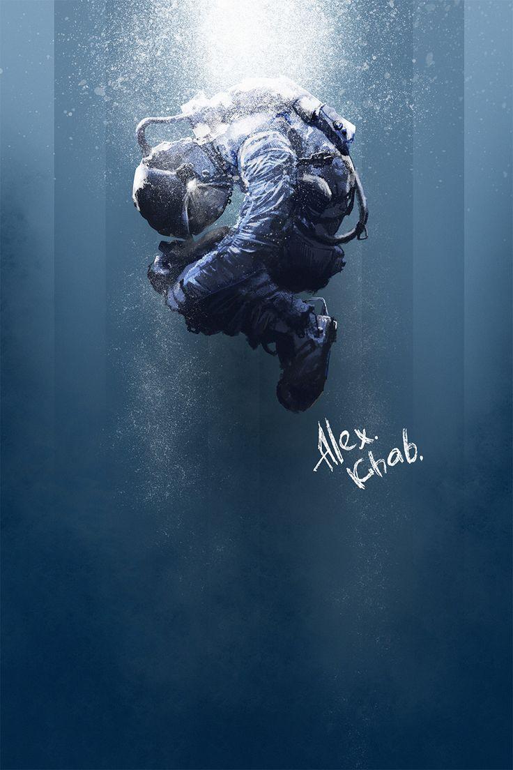 in space, Alex Khab on ArtStation at https://www.artstation.com/artwork/ODWgb