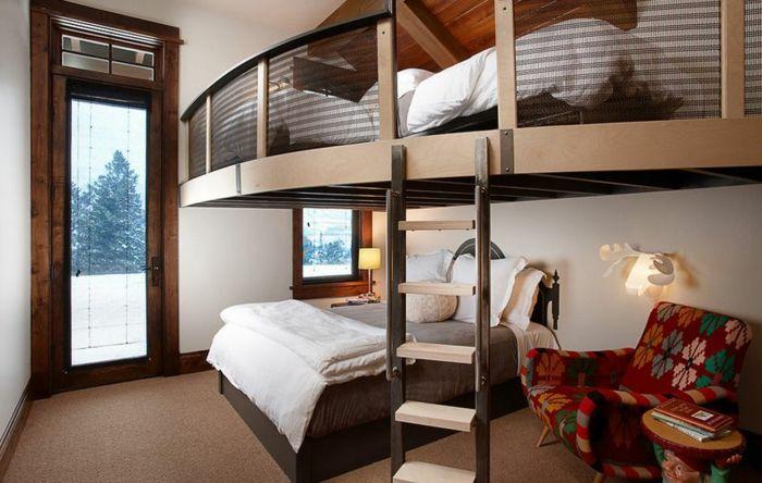 Les 25 meilleures id es de la cat gorie chambre avec lit mezzanine sur pinterest chambre de - Chambre avec lit mezzanine ...