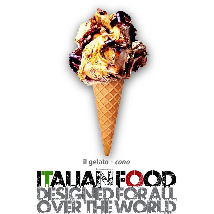ITALIAN FOOD - designed for all over the world - Il Gelato - il Cono #masterfoodesign #iedroma #foodesign #design #food #drink #kromosoma #francescosubioli #architecture #art #cibo #beverage #dop #doc #docg #alimentare