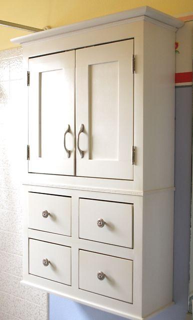 my bathroom storage solution!: Diy'S Bathroom, The White, Bathroom Storage, Storage Cabinets, Diy'S Projects, Homes Projects, Bathroom Diy'S, Upstair Bathroom, Bathroom Cabinets