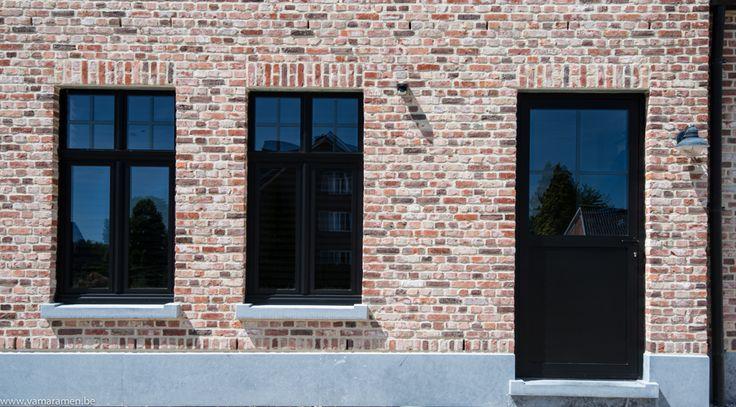 landelijke woning zwarte ramen - Google zoeken