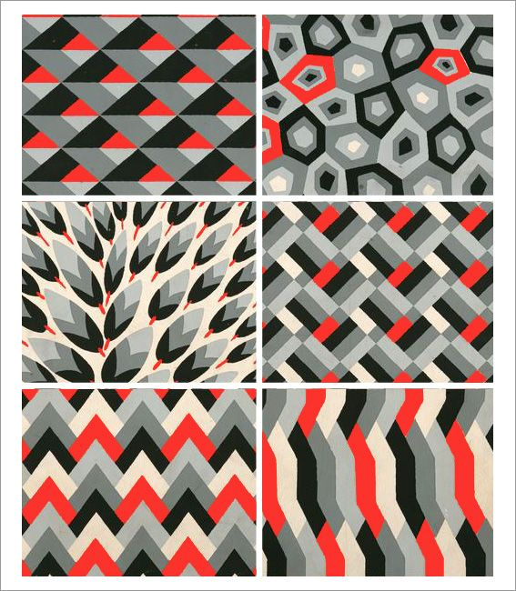 André Durenceau – (Geometric) Inspirations, 1928.: Color, Zig Zag Patterns, Geometric Inspiration, Exams Patterns, André Durenceau, Beast Patterns, Aqua Velvet, Textiles Inspiration, Geometric Patterns Wall