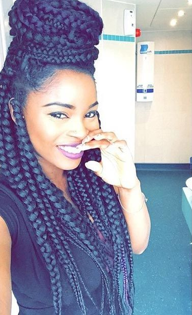 braided hair styles for natural hair 50 box braids hairstyles that turn heads big box braids 2851 | 2cd3784768de991ee1591a90f887c836 box braids hairstyles hairstyles for natural hair