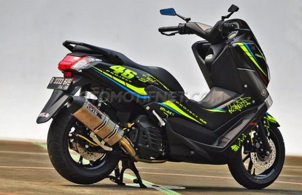 Motorcycle Modification 2016: Yamaha NMax 150 with Styling VR46 Project V 2.0 ~ Real Auto Tips