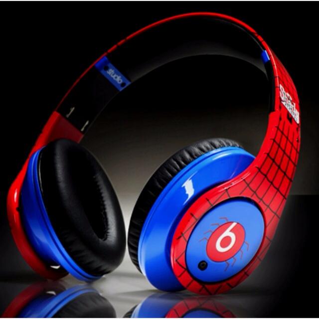 Just beats headphones by Dr Dre: spiderman design