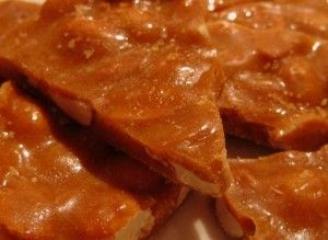 Peanut brittle recipe for Peanut Brittle Day! Easy to make with kids and you can use any type of nut. Sprinkle with salt or cover it in chocolate!
