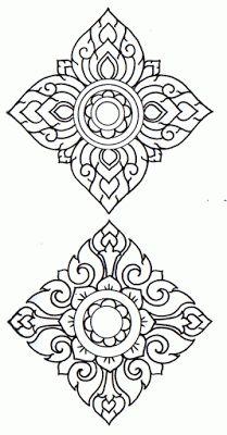 Prajam Yam : LaiThai decorative pattern Silpa Art