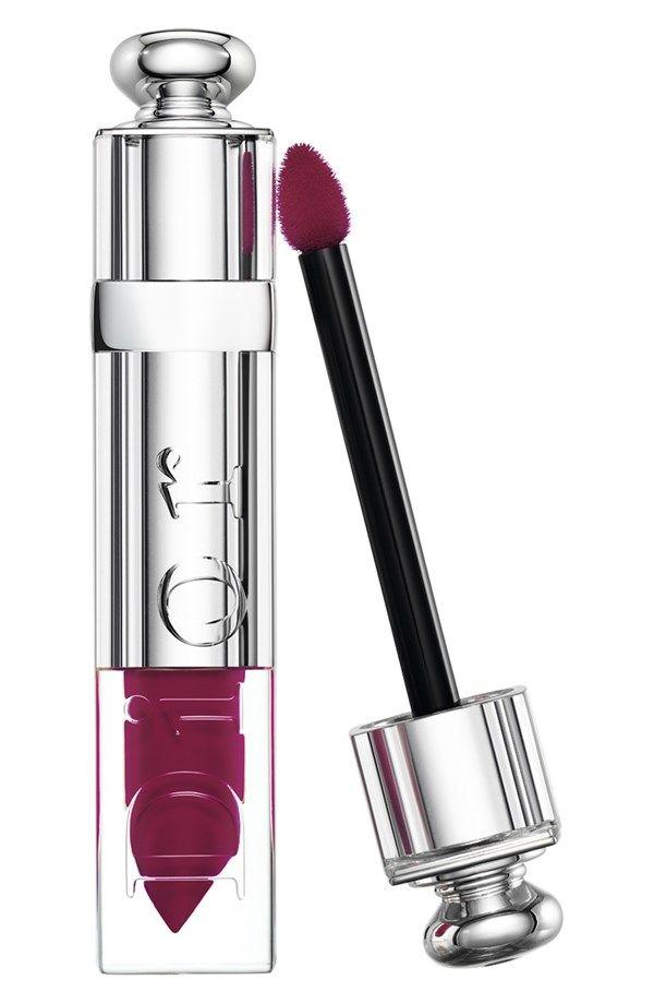 Hooked on Marsala lips   Dior 'Addict' fluid stick.