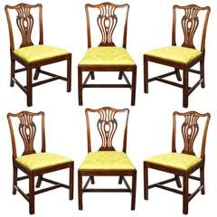 5069b24b078d4 Set of Six English 18th Century George III Mahogany Chippendale Dining  Chairs