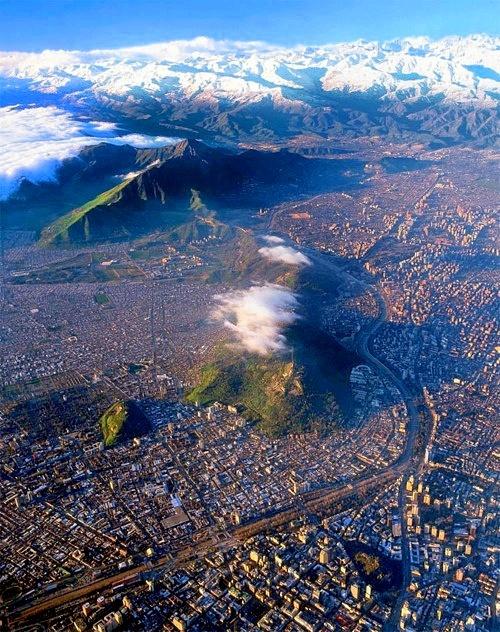 Santiago de Chile desde las alturas