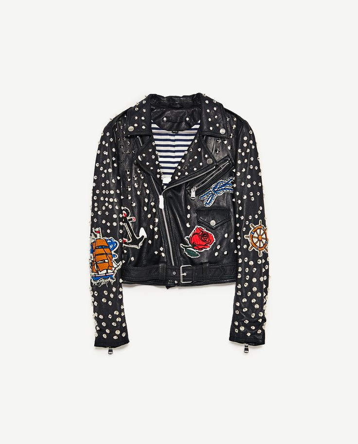Zara khaki jacke mit patches