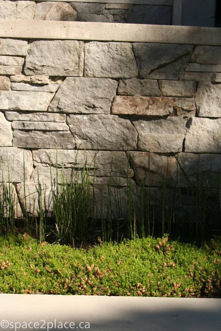 basalt stone wall