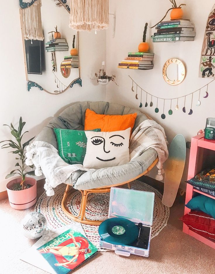 That round chair looks very comfortable. Perfect for a reading corner in the bedroom.