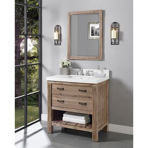 Photo Of Fairmont Designs Napa Open Shelf Vanity for Integrated Sinktop Sonoma Sand