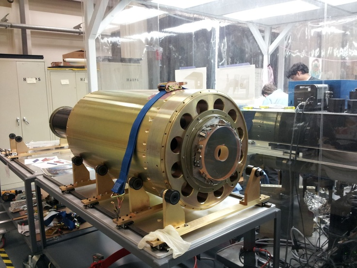 The Hi-C instrument on the integration table at the Harvard-Smithsonian Center for Astrophysics. Image released Jan. 23, 2013.
