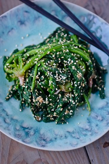 Japanese Sesame Spinach by woksoflife #Spinach #Sesame #Healthy