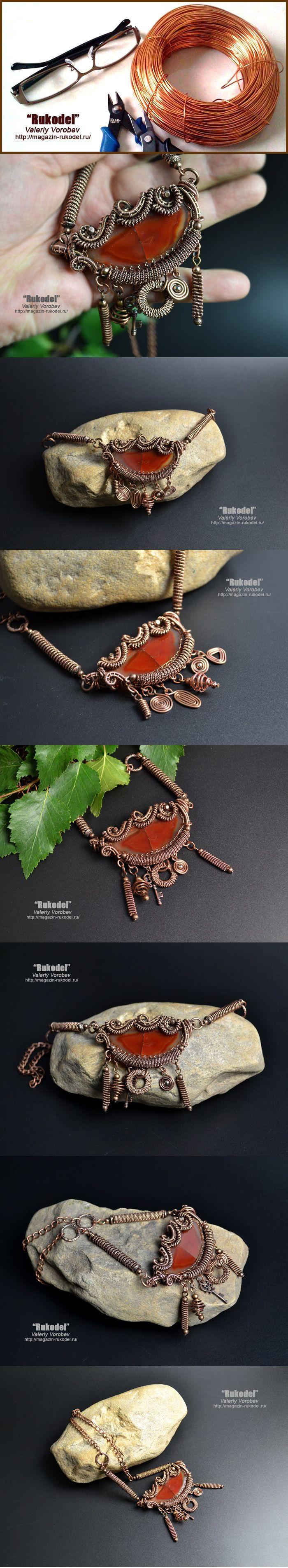 Ожерелье из проволоки своими руками.   Рукодел