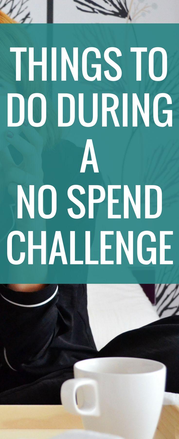 No spend challenge  No spend weekend  save money