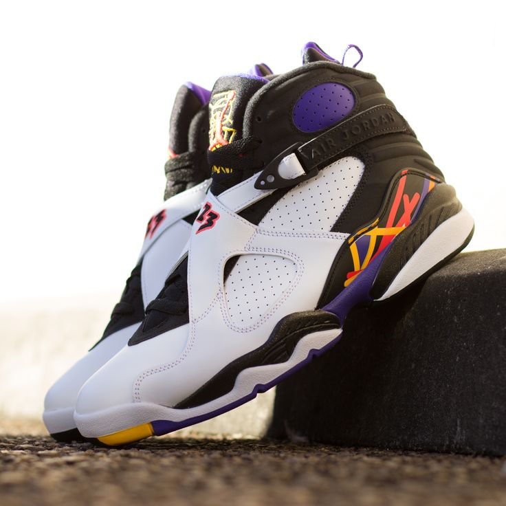 """Air Jordan 8 Retro """"Three Time's a Charm"""" Available in"""