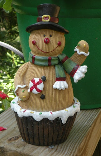 Christmas Gingerbread Boy w Hat Scarf Standing Figurine Cupcake New | eBay