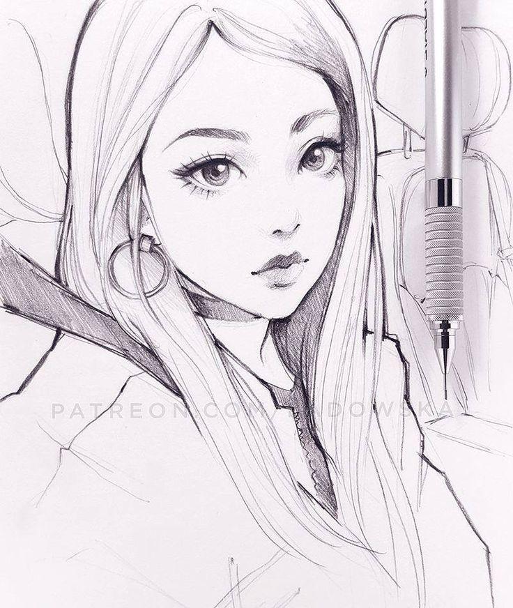 Best 25+ Cool Girl Drawings Ideas On Pinterest