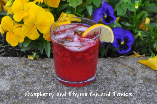 A Derby Cocktail – Raspberry and Thyme Gin and Tonics ~ AnnaShortcakes