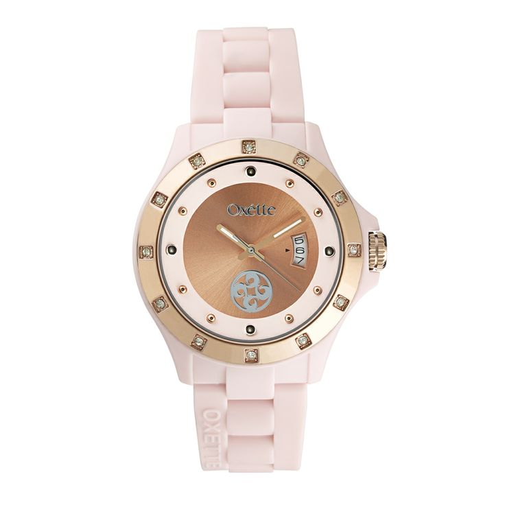 Oxette Pastel Pink  Pop Watch - Available here http://www.oxette.gr/rologia/s.steel-rose-gold-plated-pop-pink-watch-654l-1/    #oxette #OXETTEtimewear #OXETTEwatch #watches