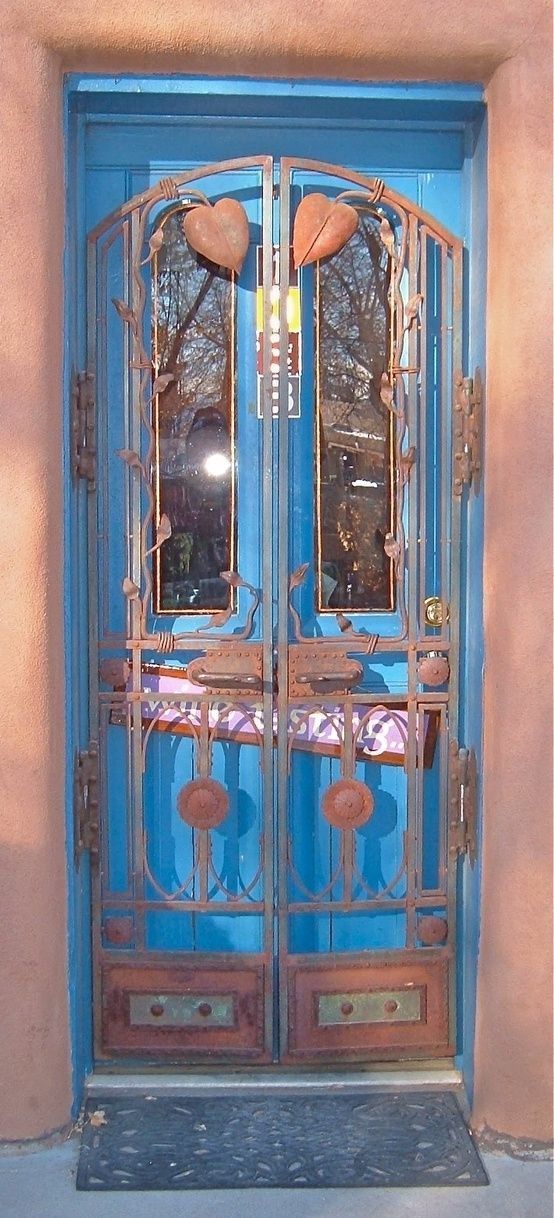 ornate and rustic door by lila