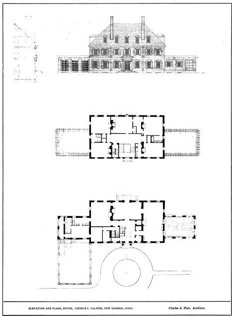 Swan House First Floor Plan. George Palmer