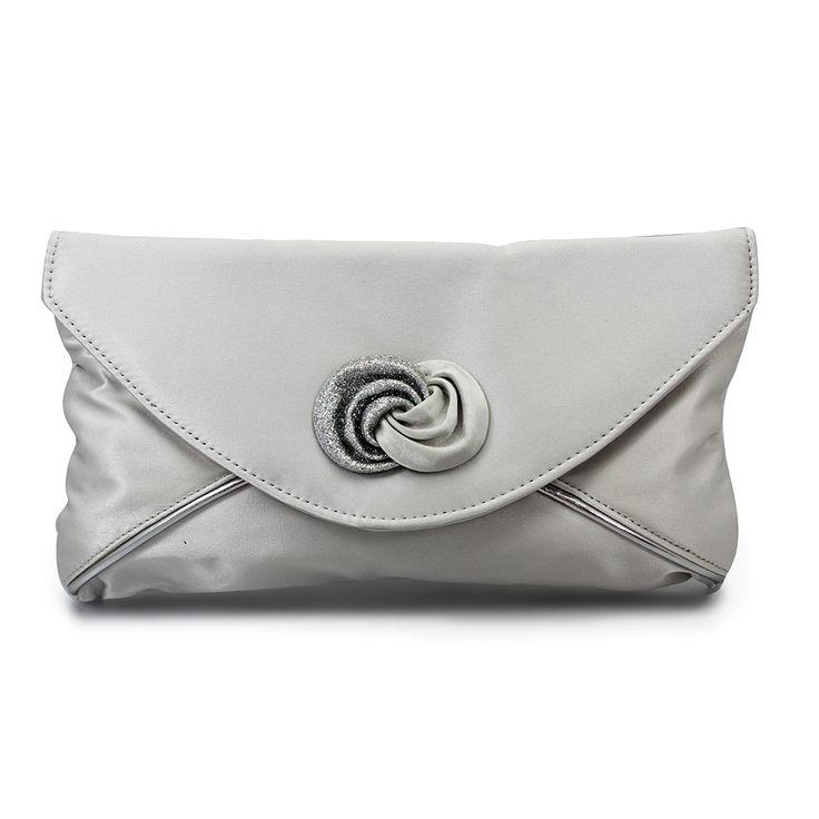 WPLBRISIL Mother of the Bride Groom Silver Clutch Bag #silverbag#fabricclutchbag#bridesmaidbag#weddingbag#motherofthebrideclutch