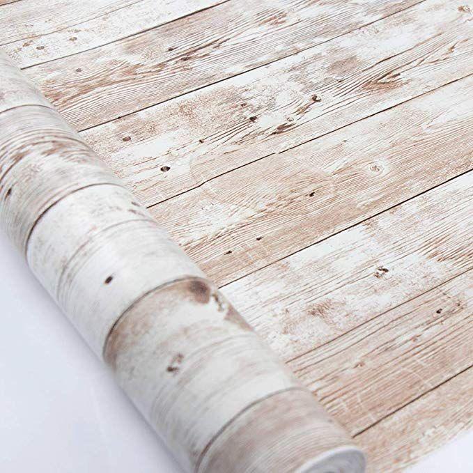 "Wood Wallpaper 17.71"" X 118"" SelfAdhesive"