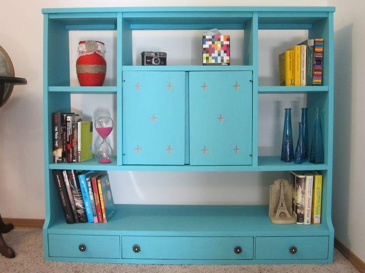 Upcycled Shelf. Yep, me and @Elizabeth Van Egdom made it so pretty :)