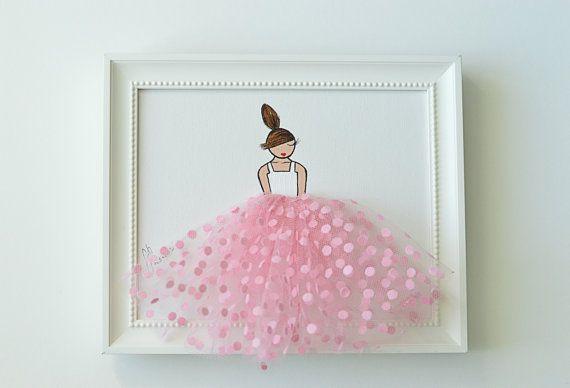 Cuadros infantiles decoración infantil rosa pared arte de