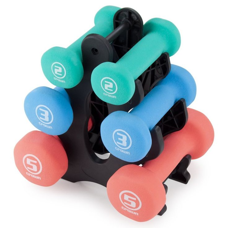 Amazon.com : Crown Sporting Goods SWGT-001.002.003.101 of Neoprene Sprint Hand Weights (Set of 3) : Sports & Outdoors