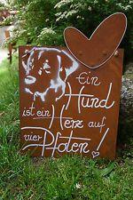 Edelrost Tafel Ein Hund ist ein Her…