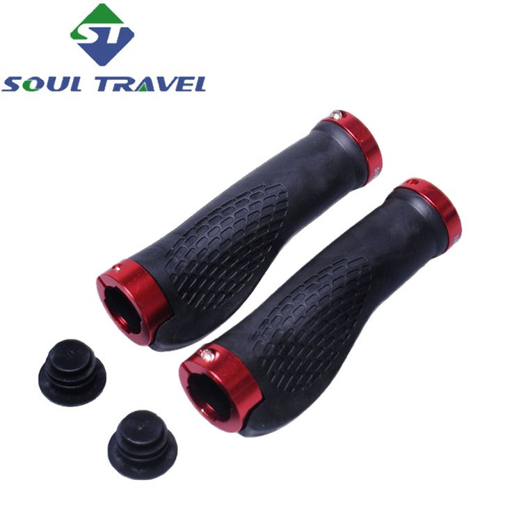 Soul Travel Mountain Bike Rubber Grips Manopole Mtb Bicycle Bilateral Lock Cover Human Body Grip Steering Wheel Direct Selling