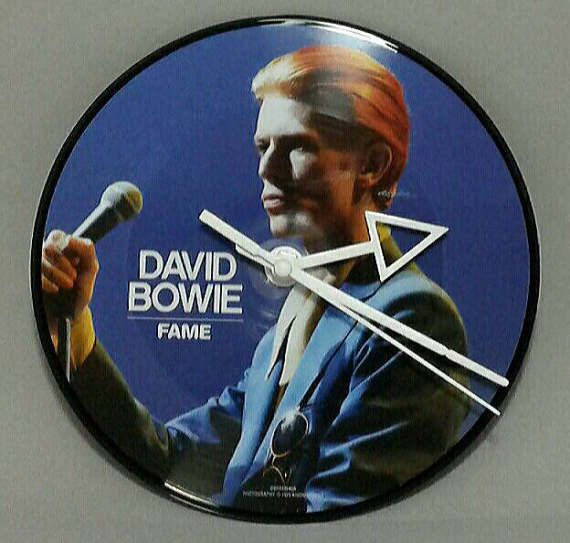 Check out this item in my Etsy shop https://www.etsy.com/listing/521464819/wall-clocks-david-bowie-unique-wall