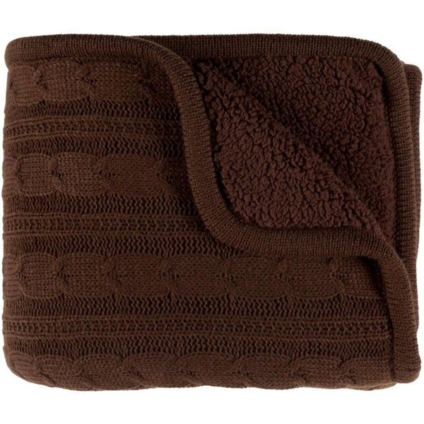 Tucker Throw Blankets in Dark Brown Color by Surya ($49) ❤ liked on Polyvore featuring home, bed & bath, bedding, blankets, throws & blankets, surya throw blanket, chocolate bedding, chocolate brown throw, chocolate brown throw blanket and chocolate brown blanket