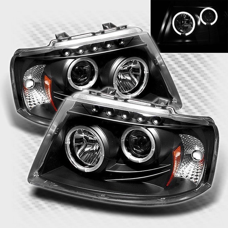 For 2003-2006 Ford Expedition Twin Halo LED Pro Headlights Black Head Lights