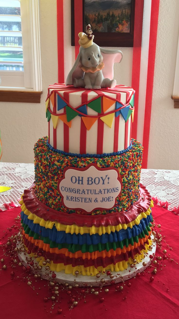 My amazing cake at my baby shower! I think the idea came from another pintrest post!! Love Disney and Dumbo!