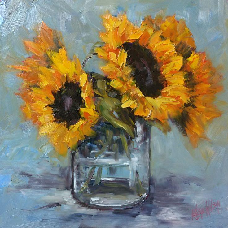 """Sunflowers"" 30x30cm oil"