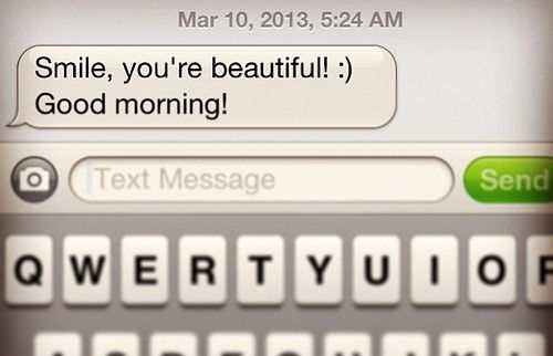 Why we just love good morning texts! Romantic, cute, relationships