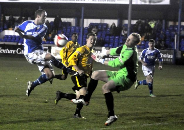Lancaster City were left dejected on Saturday as New Mills nicked a late winner to claim all three points at Giant Axe.