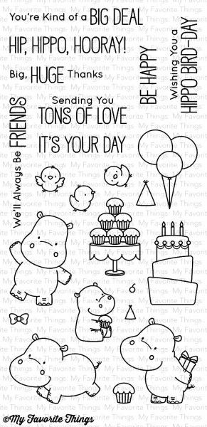 My Favorite Things Clear Stempel Nilpferd / Happy Hippos BB-47