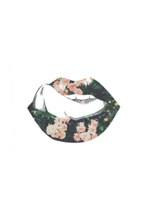 'Floral Kisses', collage art, pop art
