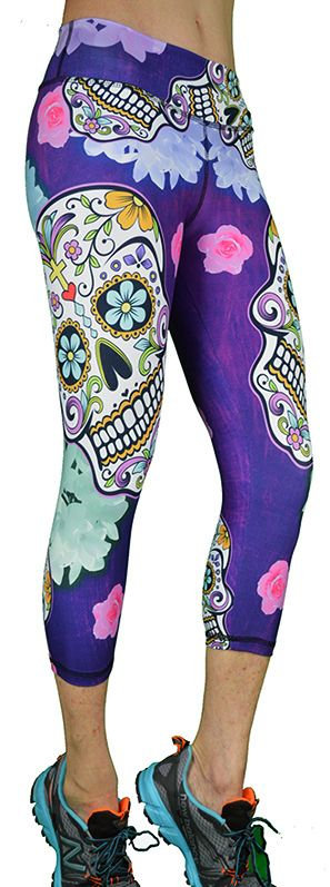 Dia de los Muertos Capri Pant From Shape Up Activewear | SanDiegoFit.com