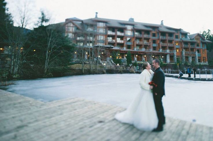 #Whistler Mountain wedding in Feb 2015. Photography & dinner location: Nita Lake Lodge Photographer: Anastasia Chomlack Wedding Planner: Sea to Sky Celebrations, Whistler BC