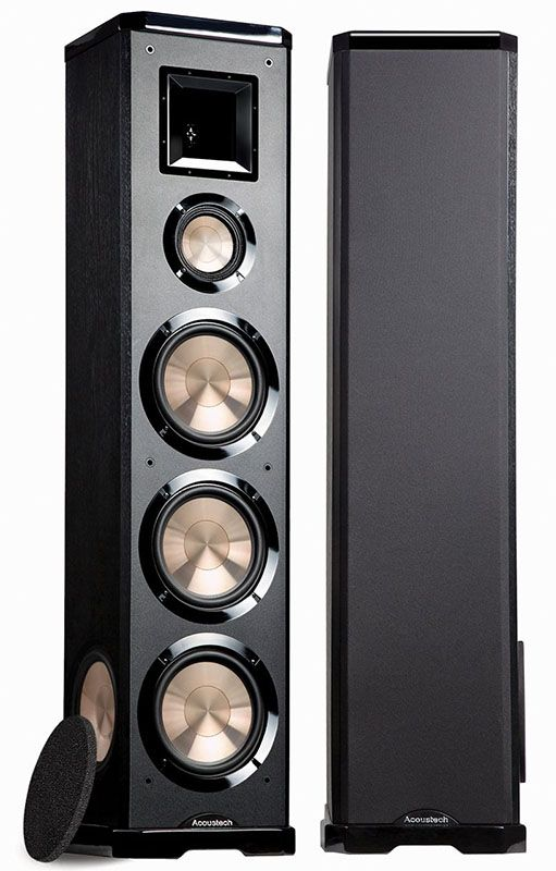 The Acoustech PL 980 Towers Use A 3 Way Design. They Have A