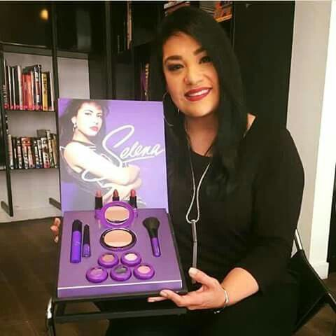 Suzette Quintanilla, Selena's sister, is shown here introducing the #MACSelena collection that will be in stores October 2016. The collection features 'Amor Prohibido', 'Dreaming of You' and 'Como La Flor' lipstick. Suzette is wearing the 'Dreaming of You' lipstick. The eyeshadows you see below are all named after Selena's biggest hits for example, the black eyeshadow where Selena used to apply to the corner of her eyes is named 'Is It the Beat?'. The purple eyeshadow is called 'Selena' as…
